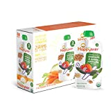 Happy Baby Organic Stage 3 Baby Food, Hearty Meals, Amaranth & Quinoa Ratatouille with Basil, 4 Ounce (Pack of 16)