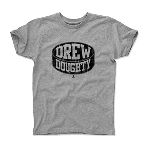 500 LEVEL's Drew Doughty Youth & Kids T-Shirt 4-5Y Heather Gray - Los Angeles Hockey Fan Gear Officially Licensed by the NHL Players Association - Drew Doughty Puck K
