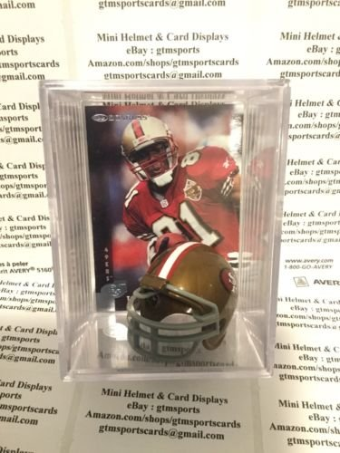 Terrell Owens San Francisco 49ers Mini Helmet Card Display Collectible WR Auto Shadowbox Autograph