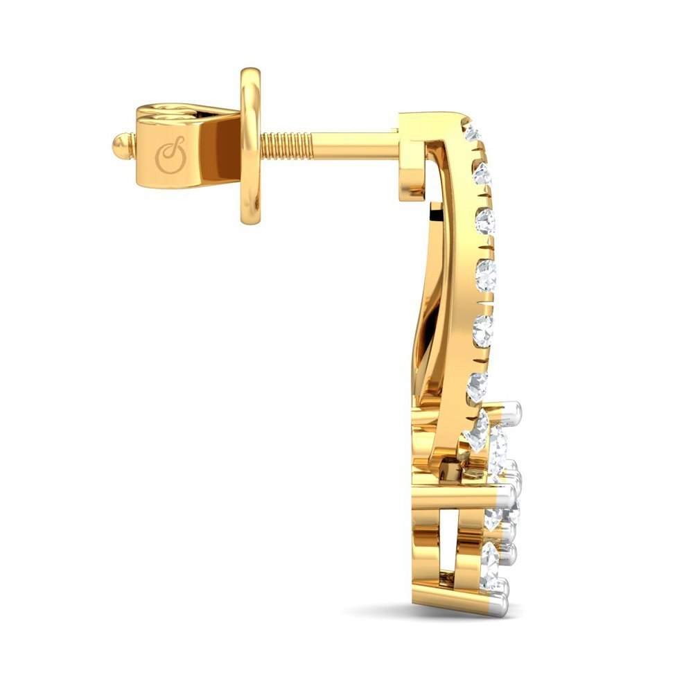 Buy Stylori 18k Yellow Gold and Diamond Philasia Pave Stud