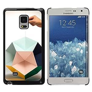 Paccase / SLIM PC / Aliminium Casa Carcasa Funda Case Cover - Paper Art Hand Deep Design - Samsung Galaxy Mega 5.8 9150 9152