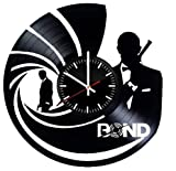 james bond vintage - Bond Vinyl Clock - James Bond Agent 007 Wall Art Room Decor Handmade Decoration - Best Original Present Gift Idea - Vintage Modern Style