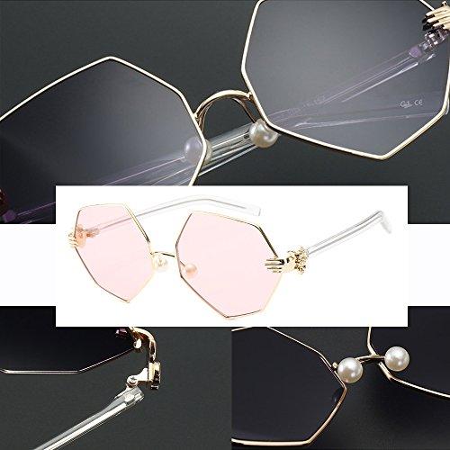 Mode soleil Rose Lozenge de Vintage métal 400 Protection Punk Unisexe Or UV Lunettes KINDOYO ORqSIS