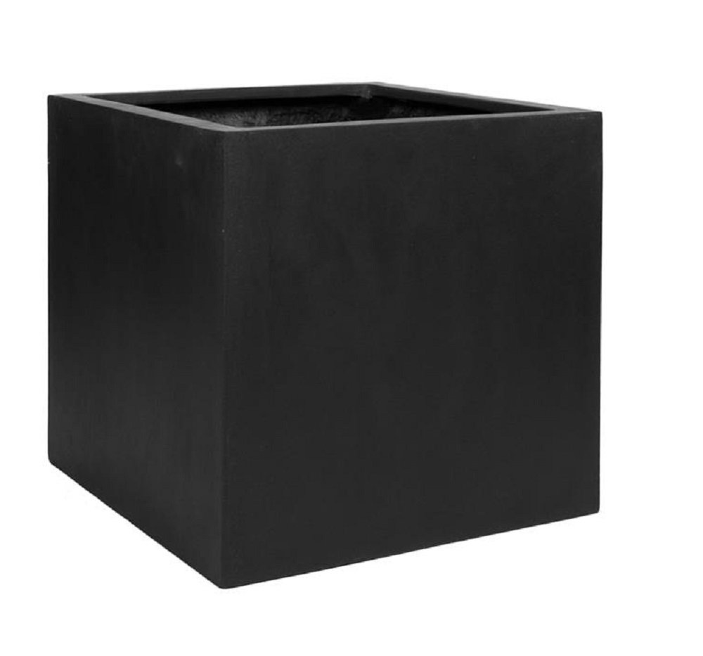 "Elegant Black Square Indoor Outdoor Planter Pot – Elegant Cube Shaped - 24""H x 24""W x 24""L - By Pottery Pots by Pottery Pots (Image #1)"