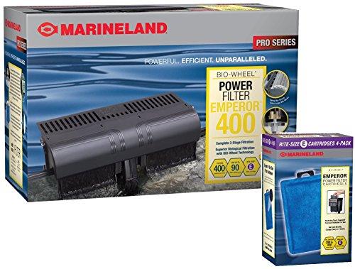 Marineland Emperor 400 GPH Power Filter / Cartridge Bundle (Emperor Power Filter compare prices)