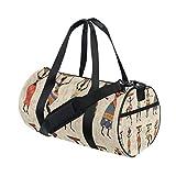 Gym Bag Africa Woman Dancing Sports Travel Duffel Lightweight Canvas Bags