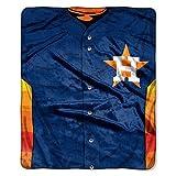 Houston Astros 50x60 Royal Plush Raschel Throw Blanket - Jersey Design - Licensed MLB Baseball Merchandise