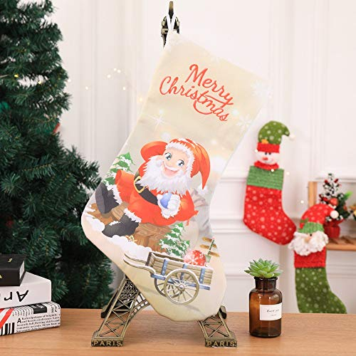 Cheap  Hot Sale!DEESEE(TM)Christmas Stocking Santa Claus Snowman Candy Gift Bag Xmas Tree Hanging..