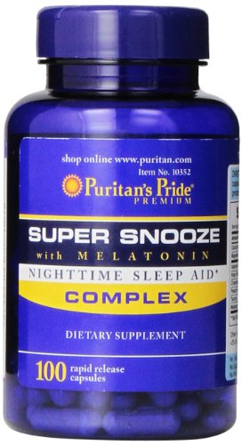 (Puritan's Pride Super Snooze with Melatonin Rapid Release Capsules,100 Count)