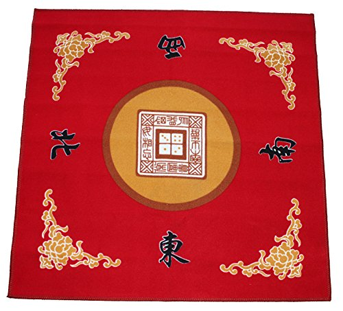 """Price comparison product image 31.5"""" Table Cover - Slip Resistant Mahjong Game / Poker / Dominos / Card Tablecover Table Top Mat - Red"""