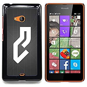 - White Grey Abstract Line Minimalist - - Snap-On Rugged Hard Cover Case Funny HouseFOR Microsoft Nokia Lumia 540 N540