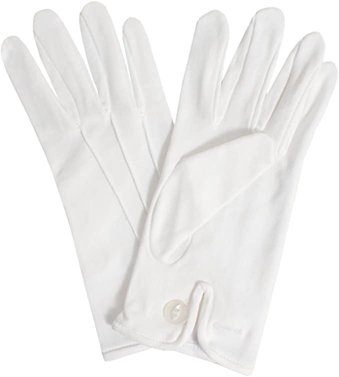 Edwardian Titanic Men's Formal Tuxedo Guide Dobell Mens White Gloves Formal Evening Wear Accessory-M £9.99 AT vintagedancer.com