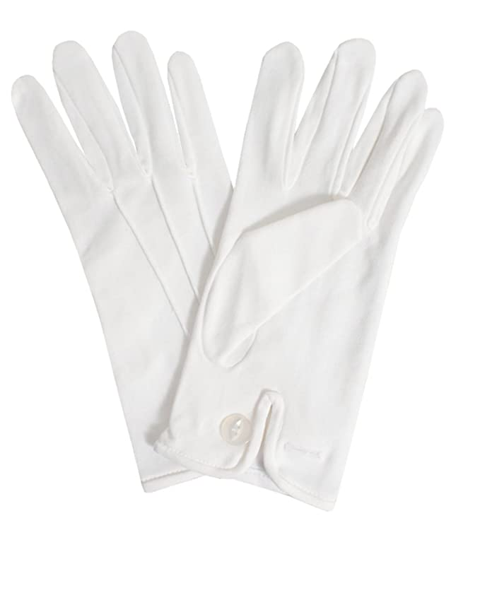 Edwardian Titanic Men's Formal Tuxedo Guide Dobell Mens White Gloves 100% Cotton Formal Evening Wear Accessory-XL $7.95 AT vintagedancer.com