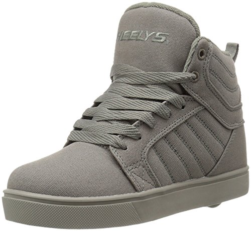 Heelys Boys' Uptown Sneaker, Grey Solid, 8 M US Big -