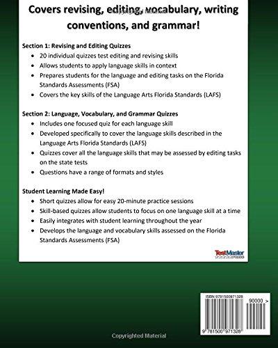 Amazon.com: FLORIDA TEST PREP Language & Editing FSA Quiz Book ...