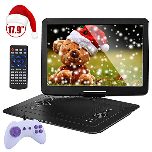 YOOHOO 17.9'' Large Portable DVD/CD Player with 15.6'' 270°Swivel High Definition LCD Screen