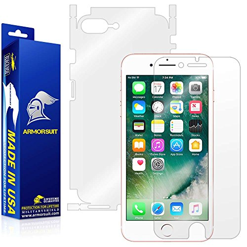 ArmorSuit Apple iPhone 7 Plus Screen Protector + Full Body MilitaryShield Full Skin + Screen Protector Compatible with iPhone 7 Plus - HD Clear Anti-Bubble