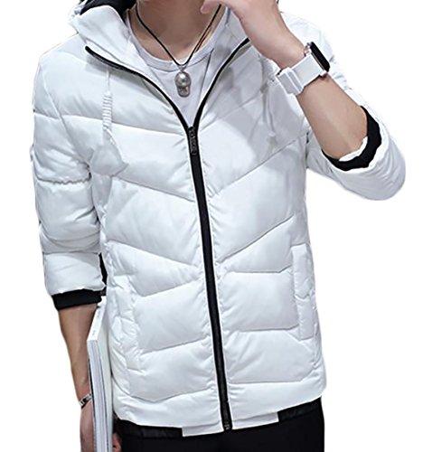 White Coat Men's Hooded Generic Zipper Jacket Padded FO60qvg