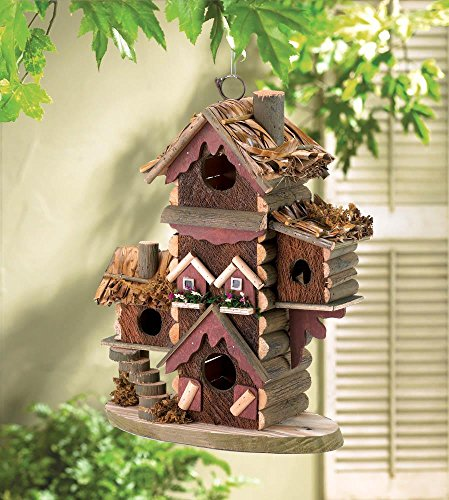 Birdhouses Pair Of Gingerbread Style Birdhouse Avian Bird House Condo, Wood Made,Lovely House Decor ()