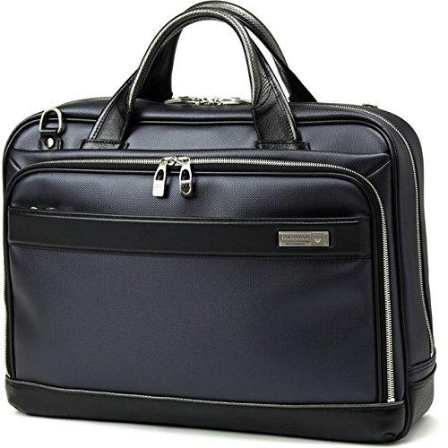 BERMAS バーマス M.I.J MADE IN JAPAN ビジネス 2way ビジネス ブリーフケース ショルダーバッグ B4 42cm 日本製 豊岡鞄 ネイビー 60036-NV B0799FV5GC