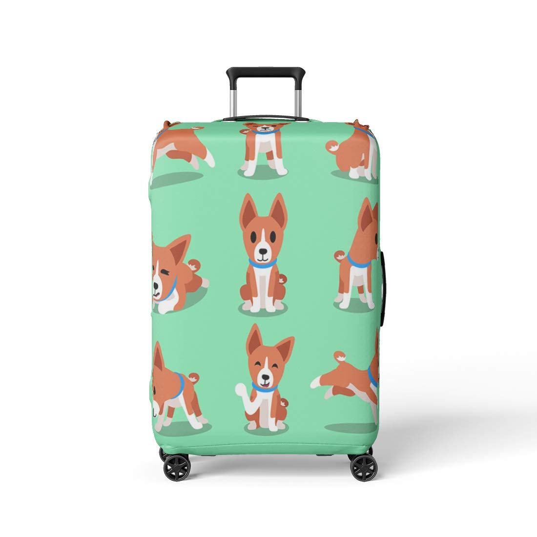 81a875f8c6ae Amazon.com: Semtomn Luggage Cover Puppy Cartoon Character Basenji ...