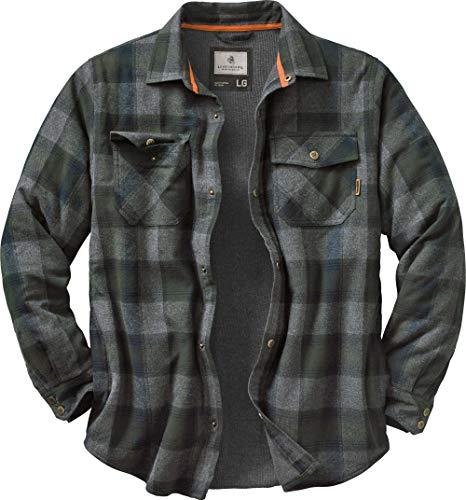 Legendary Whitetails Archer Shirt Jacket, Balsam Shadow Plaid, Medium