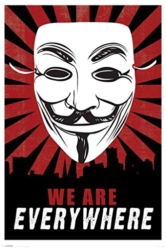 Pyramid America We are Everywhere Guy Fawkes Poster Print -