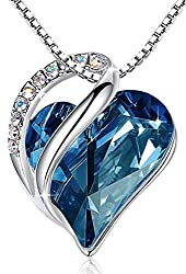 Heart Pendant with Swarovski Crystals Birthstone