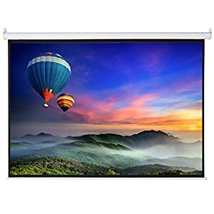 Crazyworldstore Motorized Electric HD Home Theater Projection Projector Screen 100-Inch 4:3 Display w/ Remote Control