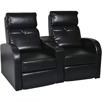 Amazon.com: Hebel Artificial Leather 2-Seat Home Theater ...