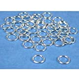 40 Jump Rings Closed Sterling Silver Jewelry 18 Ga 8mm