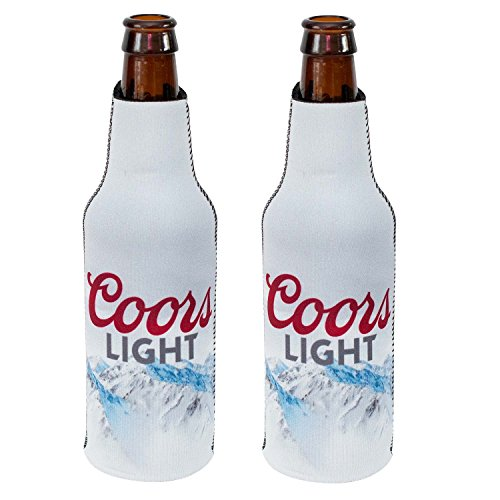 Officially Licensed Coors Light Bottle Suit Neoprene Beer Huggie Cooler Zipper Sleeve (2)