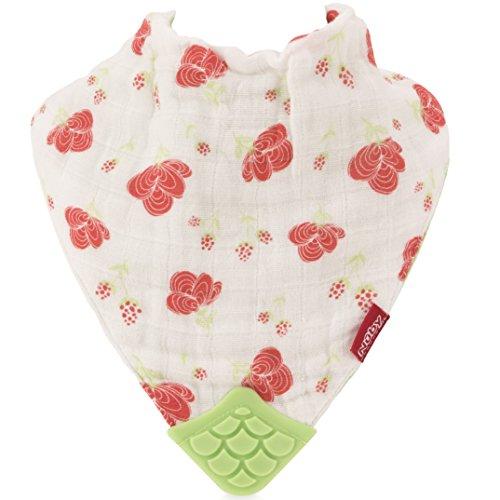 Nuby-Reversible-100-Natural-Cotton-Muslin-3-Piece-FlowerButterflyStripes-Teething-Bib-PinkAquaPurple