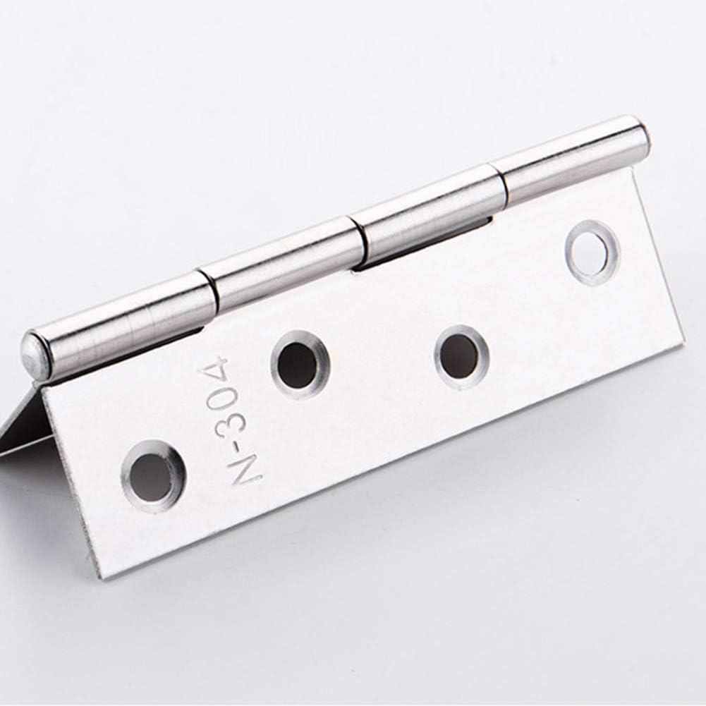Bisagras de acero inoxidable para puerta de 4 pulgadas para puertas interiores y ventanas accesorios para muebles de hogar bisagras de acero autocolor de 88 mm