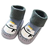 Cute Baby Boys Girls Toddlers Moccasins Cartoon Knitted Non-Skid Indoor Shoes Socks/Slippers First...