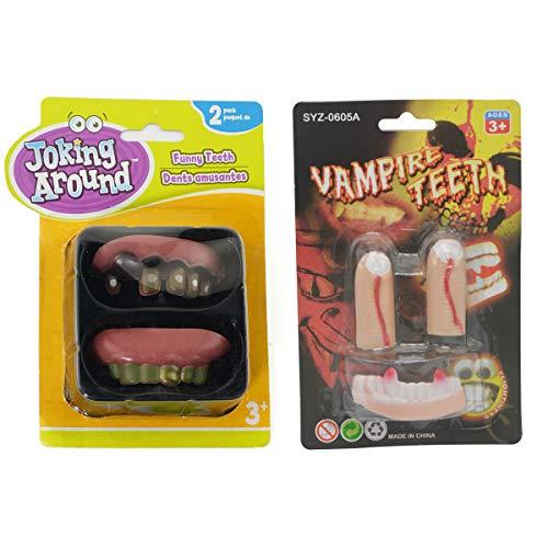 Triplewood Denture Teeth Fake Nails Halloween Vampire Fingers & Teeth ()