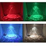 Christmas light DJ light Party Light Disco stage Lights RGBW 14-color magic ball Remote Water wave Ripple Effect Light for Night Club Bar Pub New year Party Home Decoration