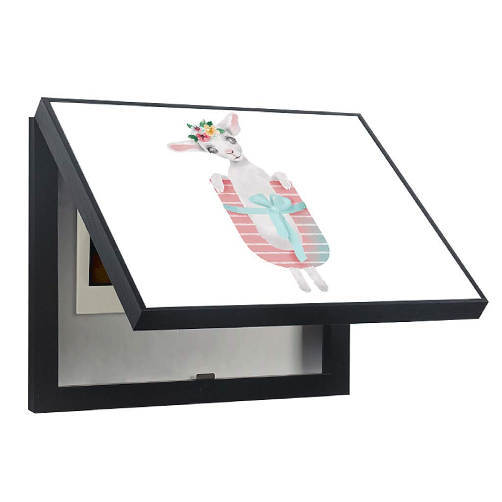 QIQIDEDIAN カラー抽象的なメーターボックス装飾絵画流通ボックスリビングルームダイニングルーム電源メインスイッチ不明のハンギングペイントフリーパンチング (Color : Black, Size : (50*40cm 40*30cm)-Flip cover) B07T4215YB Black ( 50*40cm 40*30cm)-Flip cover