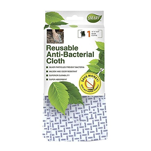 Smart138 10160 Antibacterial Cloth (1 Piece), White/Gray