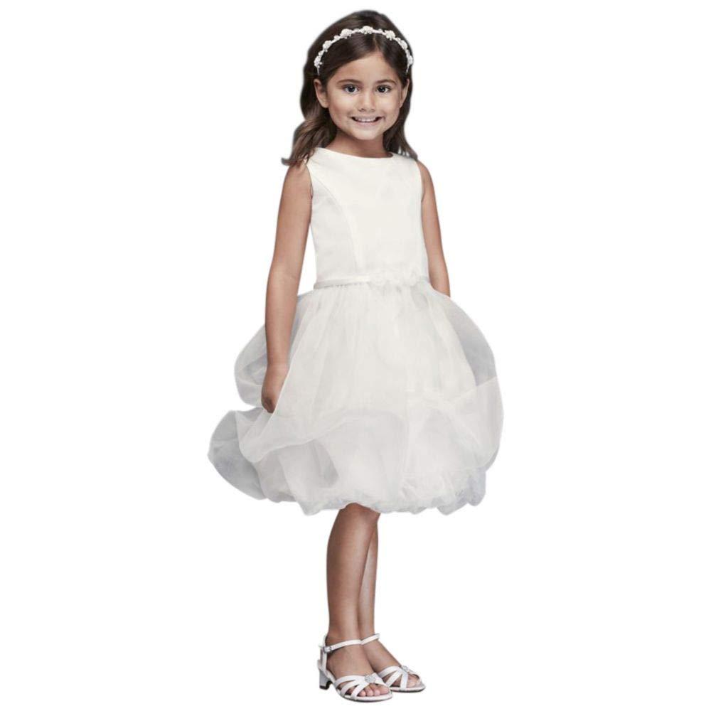 eaf200f41 Amazon.com: David's Bridal Organza Bubble Skirt Flower Girl/Communion Dress  Style CR1391: Clothing