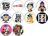 Gorillaz Pinback Buttons Badges/Pin 1 Inch (25mm) Set of 10 New