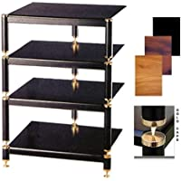 BL Series Audio Rack (Gold w Cherry Shelf)