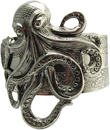 Sealife Bracelet,Hinge Bracelet,Steampunk Bracelet,Ocean Bracelet,Sea Bracelet,Boho Jewelry,Octopus Jewelry Boho Bracelet Octopus Bracelet