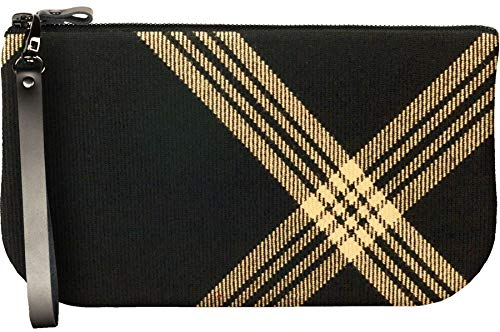 Enough Clutch Fit with iPad Black Small Bag Leather Mini Celtic Tartan Large to nUw55q8xvC