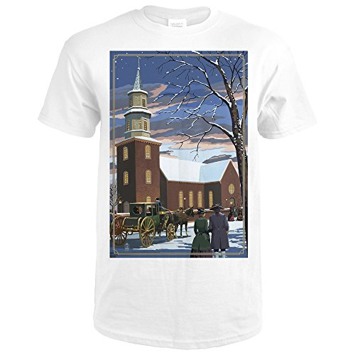 Bruton Parish - Williamsburg, Virginia (Premium White T-Shirt - Williamsburg Premium