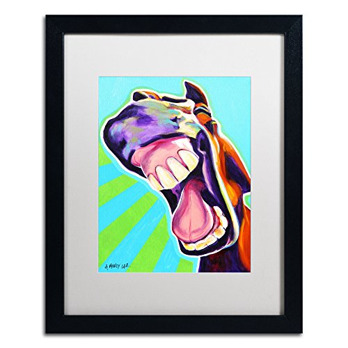 That's A Good One Artwork DawgArt in White Matte and Black Frame, 16 by 20-Inch