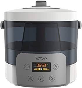 VAVA Top Fill Ultrasonic Humidifier, Cool Mist Humidifiers for Large Room, Wide Opening Easy to Clean, Safe Dry Base, 360°Nozzle, Auto On/Off, Sleep Mode -(2.5 L/0.66 Gallon, US 110V)