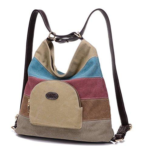 Keshi Leinwand Cool Damen Handtaschen, Hobo-Bags, Schultertaschen, Beutel, Beuteltaschen, Trend-Bags, Velours, Veloursleder, Wildleder, Tasche Khaki