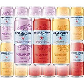 San Pellegrino Dark Morello Cherry & Pomegranate, Lemon & Lemon Zest, And Tangerine & Wild Strawberry - Variety Pack, 11.15 Fl Oz Can (Pack of 12, Total of 133.8 Fl Oz)
