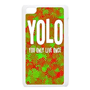 iPod Touch 4 Phone Cases White YOLO FSG528320